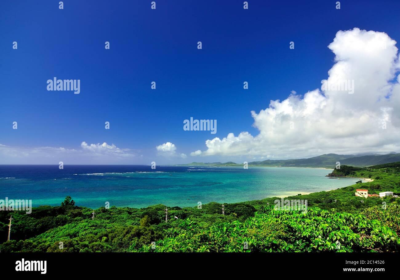 View, From Tamatorizaki Observation Platform, Ishigaki, Yahema Islands, Okinawa, Japan Stock Photo