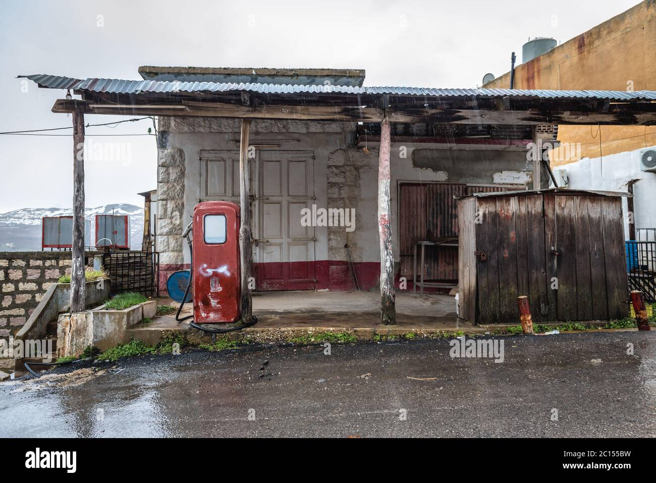 Abandoned Gas Station In North Governorate Of Lebanon Stock Photo Alamy