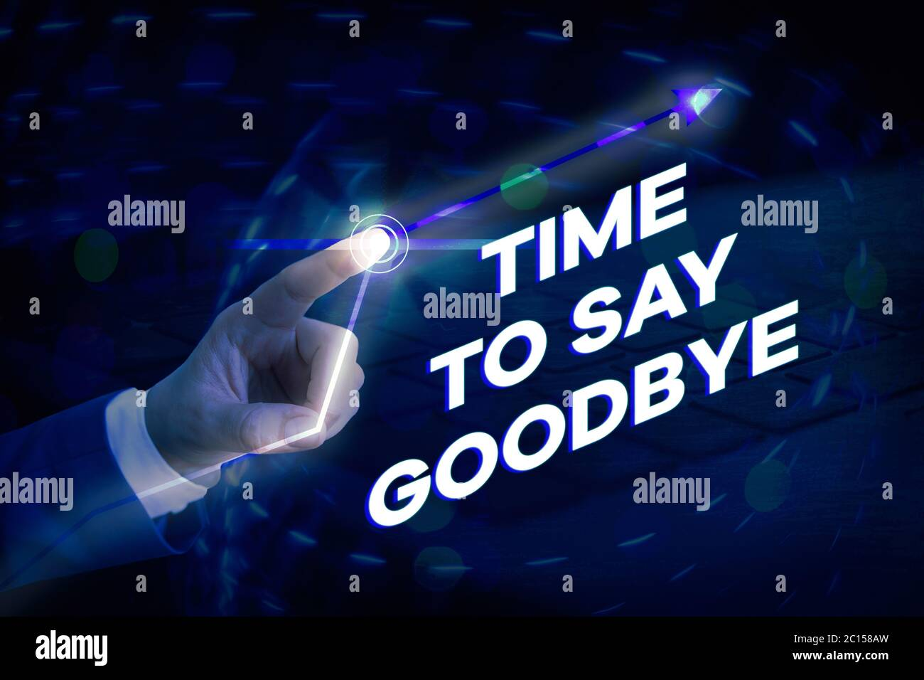 Conceptual Hand Writing Showing Time To Say Goodbye Concept Meaning Farewell Parting Sendoff Departure Exit Leavetaking Stock Photo Alamy