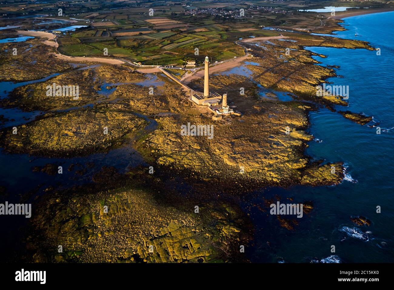 France, Normandy, Manche department, Cotentin, Gatteville-le-Phare or Gatteville-Phare, the lighthouse of Gatteville or lighthouse of Gatteville-Barfl Stock Photo