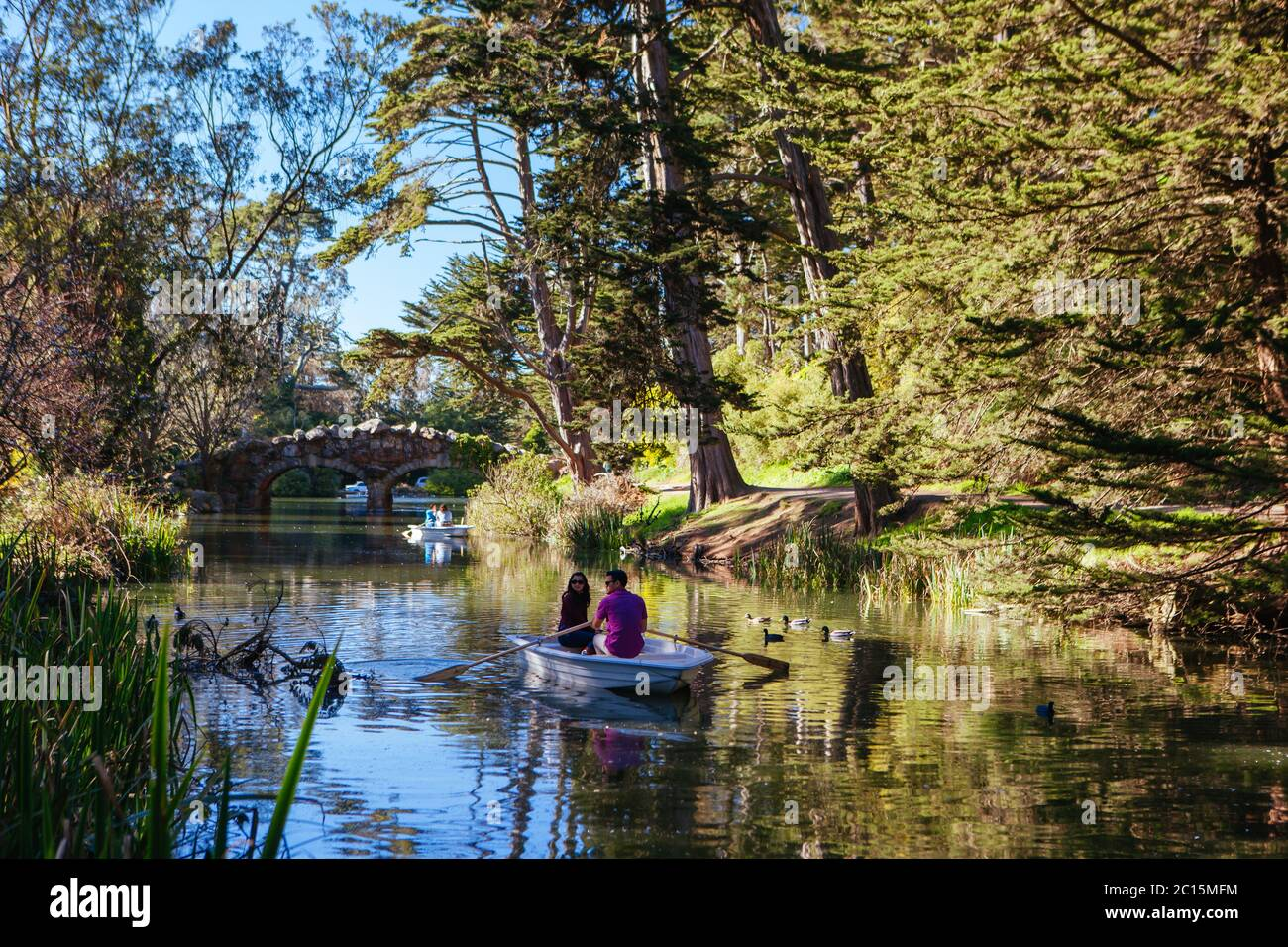 Golden Gate Park Boating in USA Stock Photo