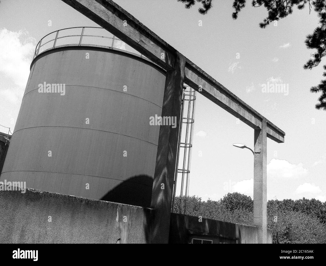 Old industrial settlement, Bron, France Stock Photo