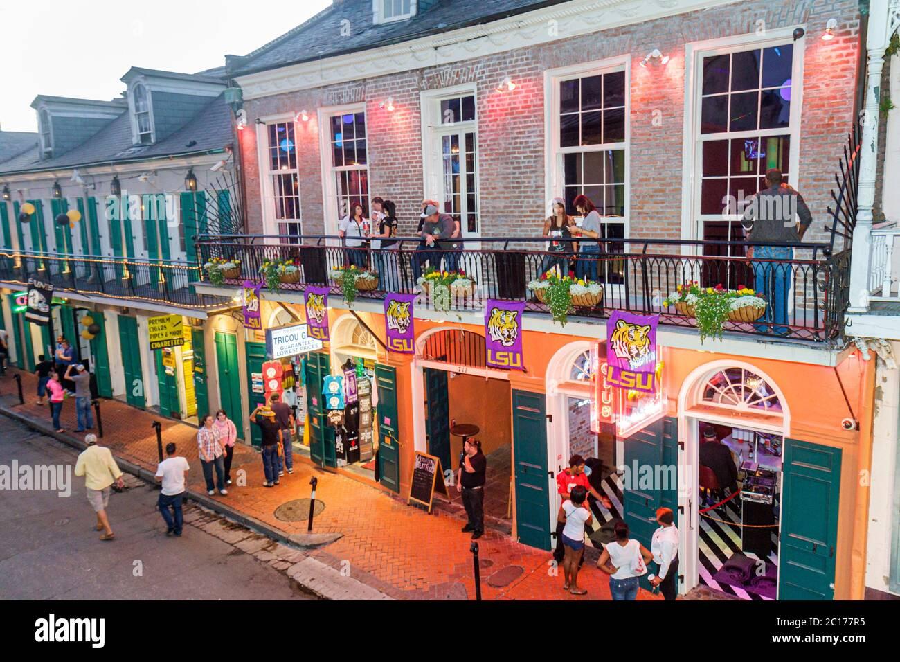 Louisiana, LA, South, Orleans Parish, New Orleans, French Quarter, Bourbon Street, Bourbon Heat Club, dance club, drink drinks beverage beverages drin Stock Photo