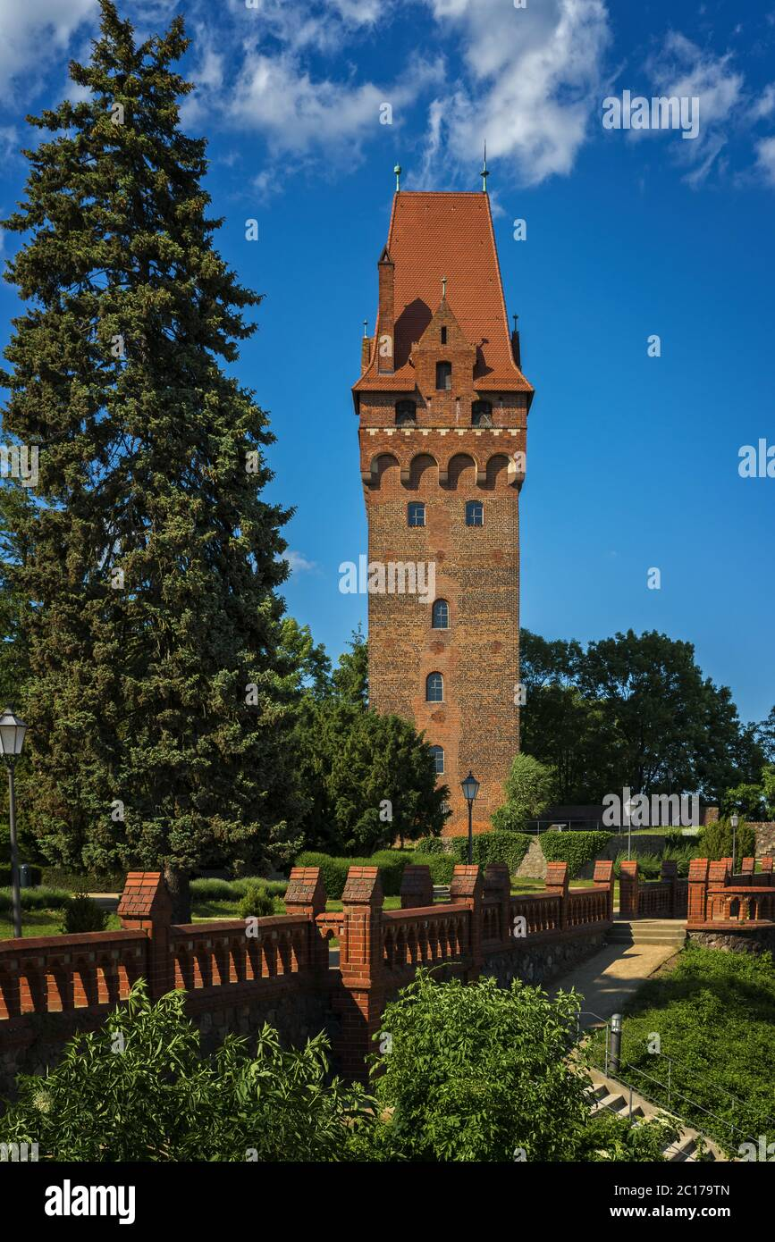 Capitol tower of the castle in Tangermuende Stock Photo