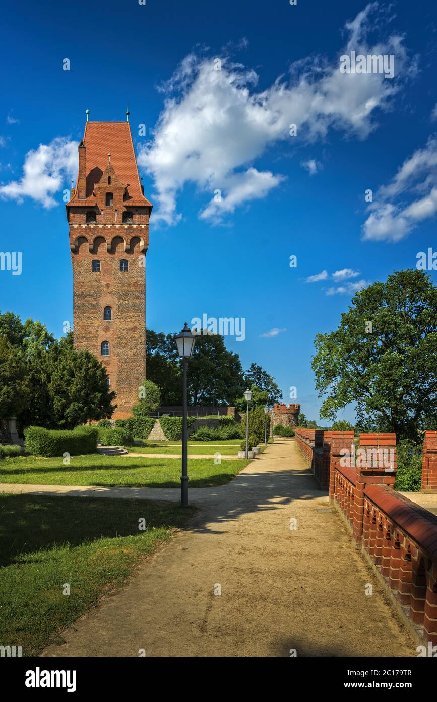 Chapter tower of the castle in Tangermünde Stock Photo