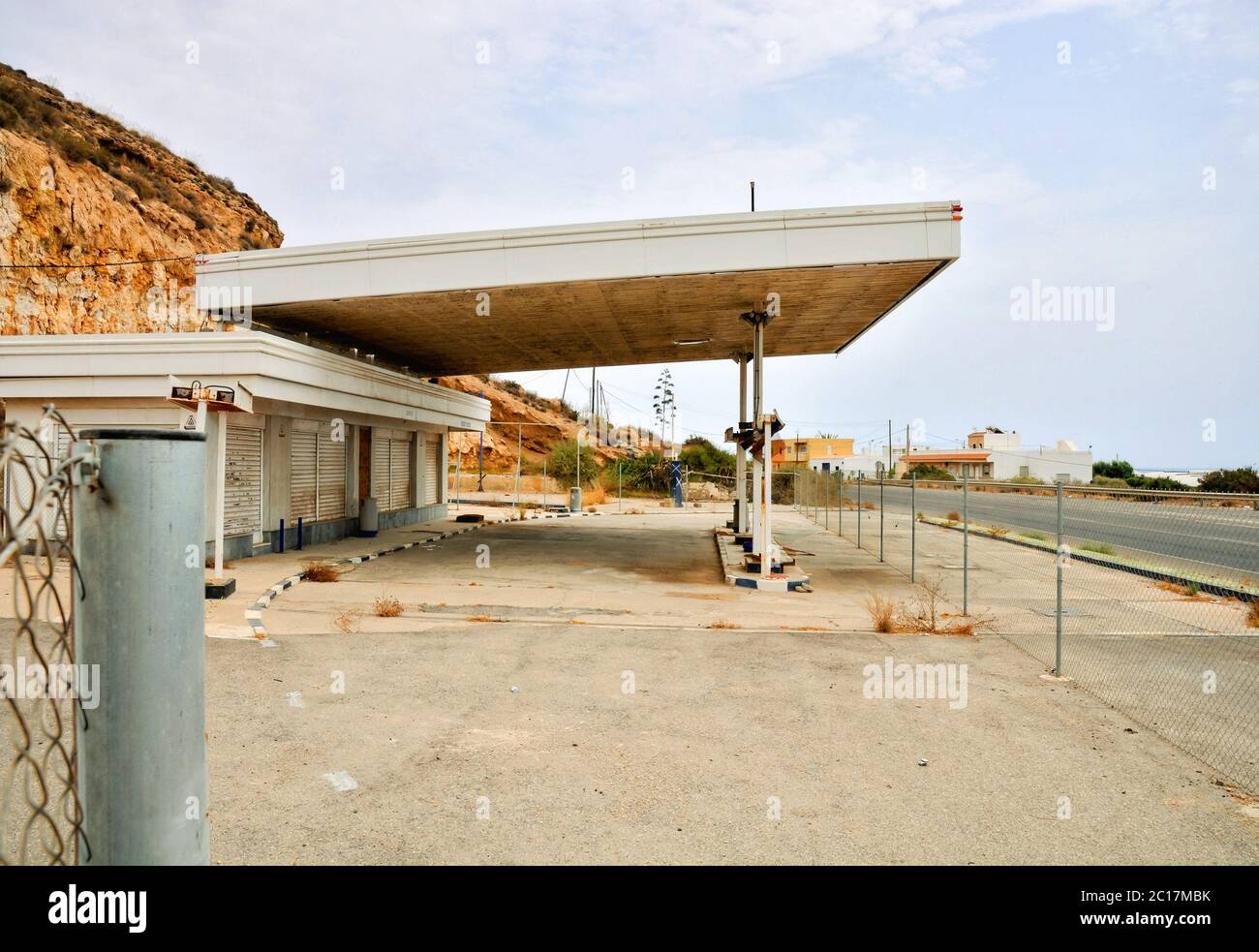 Abandoned Gas Station Along The Route 66 Stock Photo Alamy