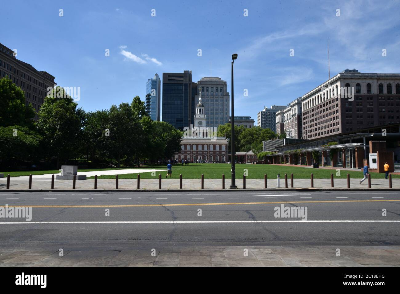 Philadelphia, PA, USA - JUNE 26, 2019: Independence Historic National Park, Independence Hall and The Liberty Bell Center in Old Towne Philadelphia Stock Photo