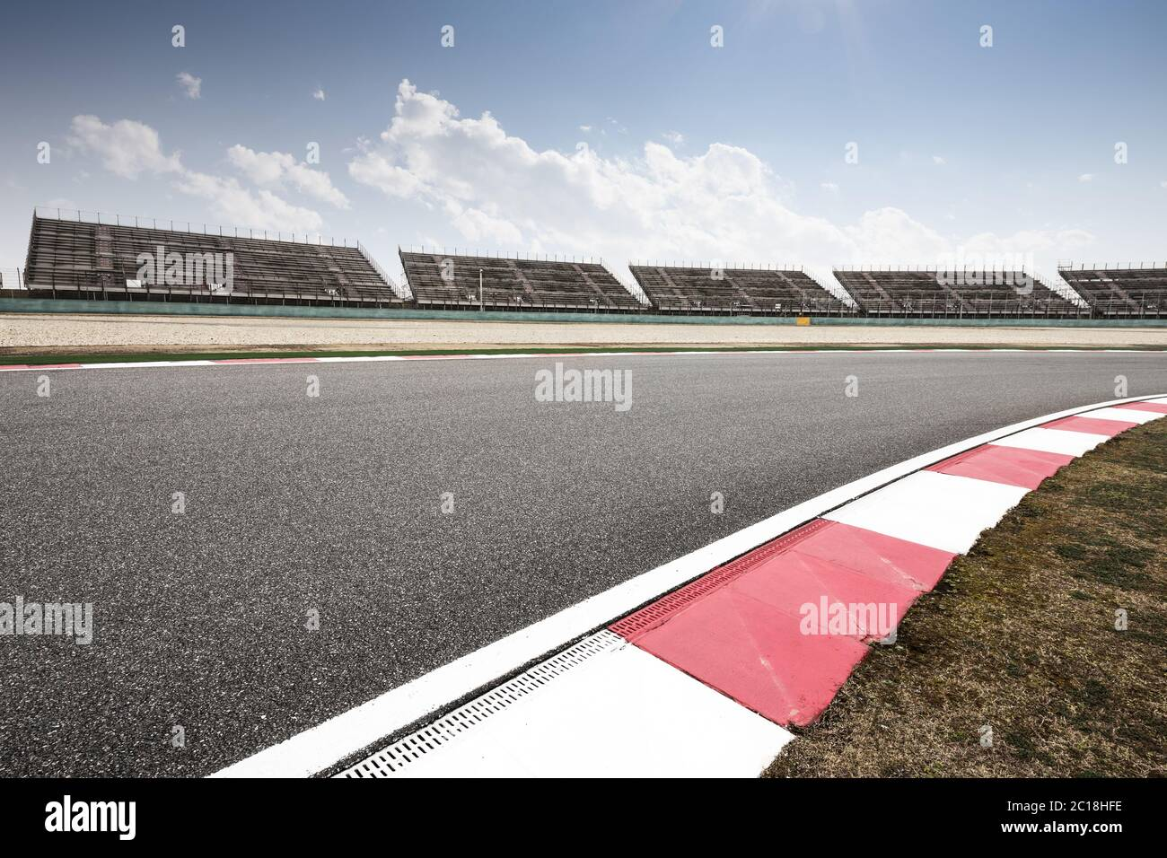 Empty Race Track Background High Resolution Stock Photography And Images Alamy