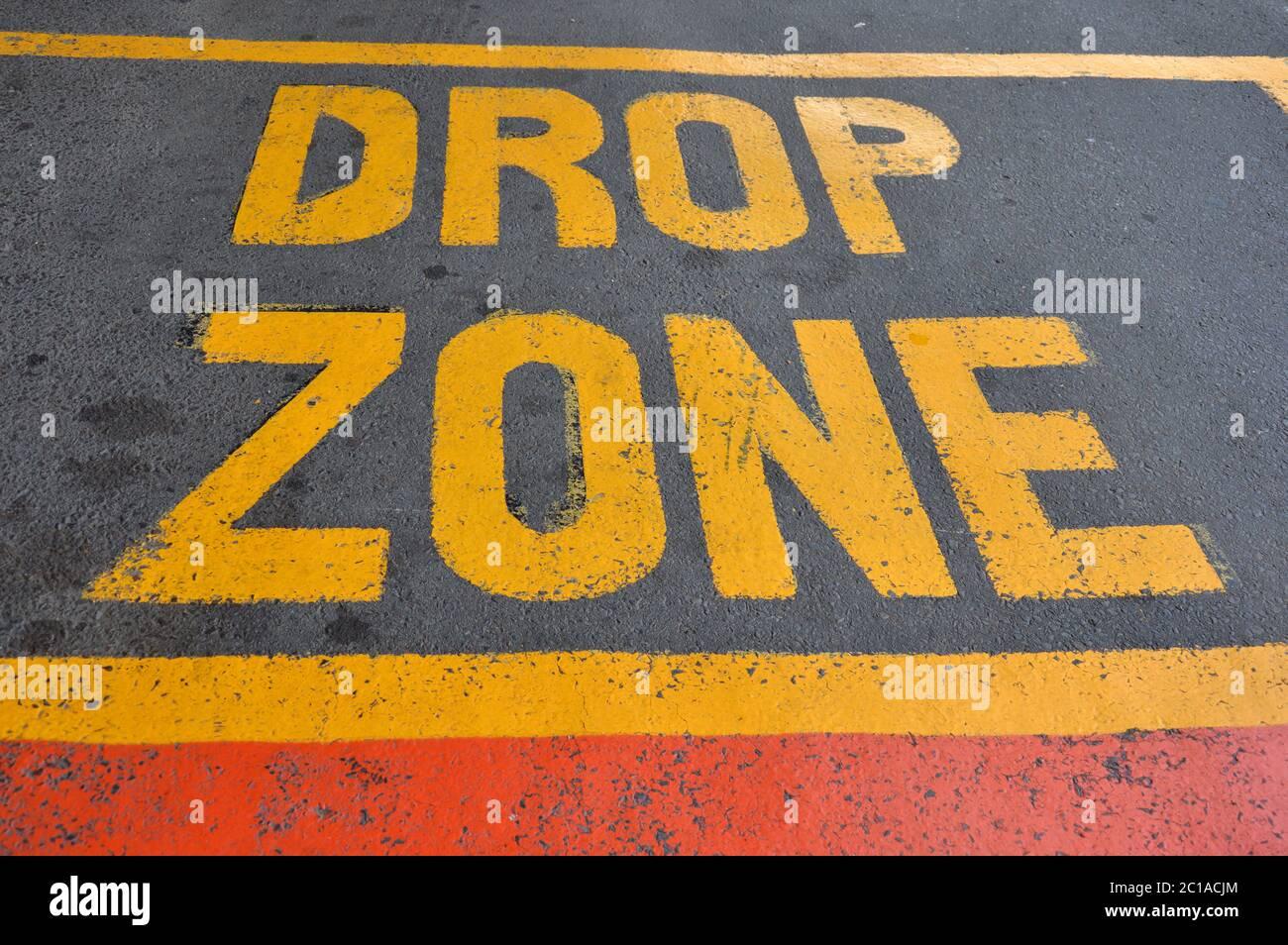 drop zone Stock Photo