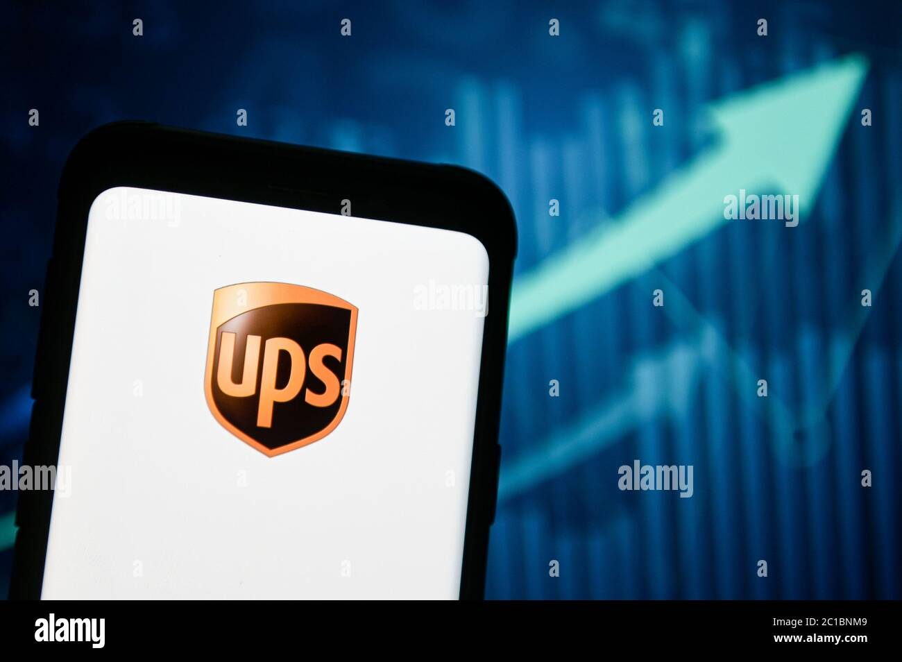 Poland 15th June 2020 In This Photo Illustration A Ups Logo Seen Displayed On A Smartphone Credit Mateusz Slodkowski Sopa Images Zuma Wire Alamy Live News Stock Photo Alamy