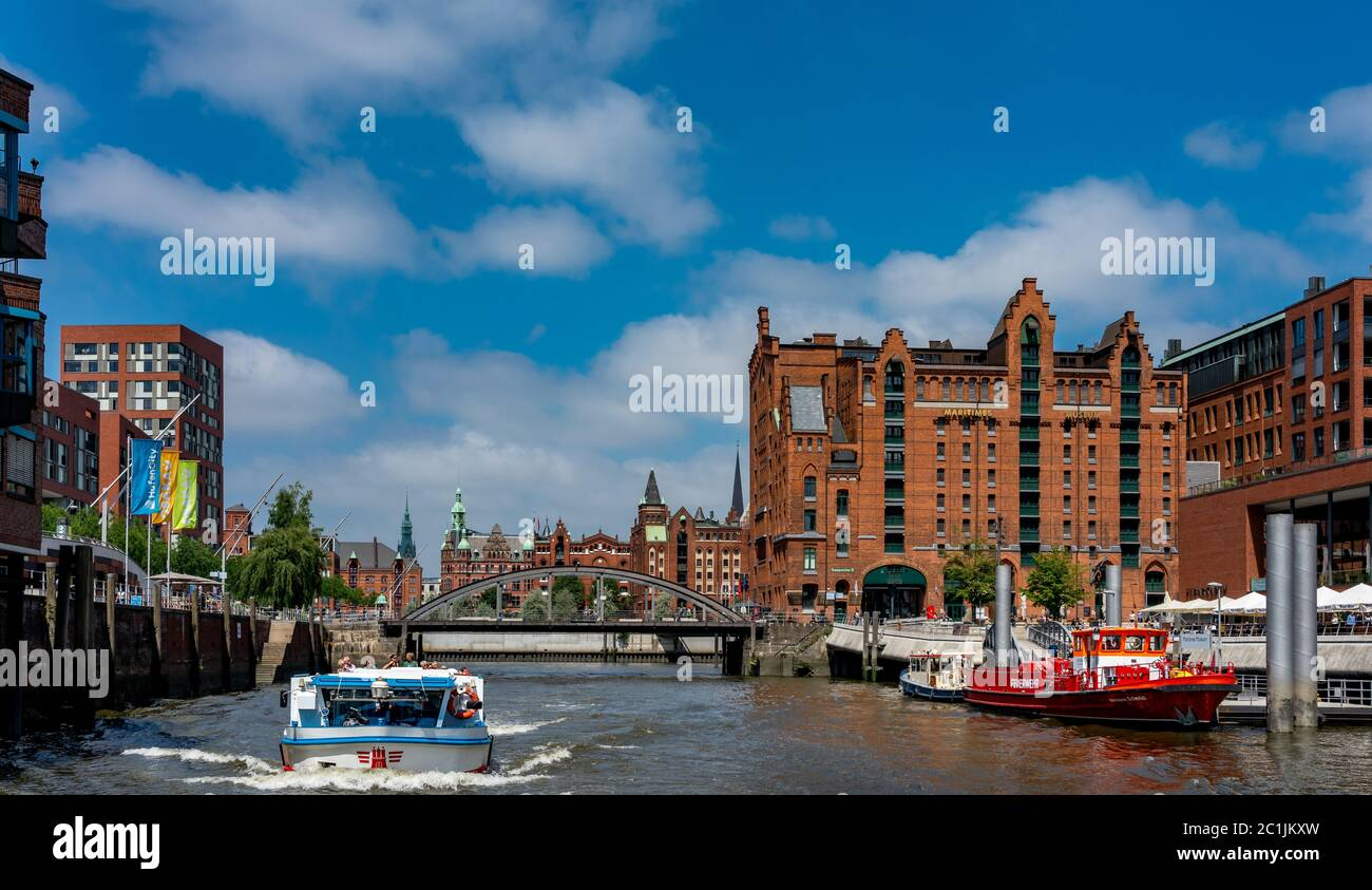 Hamburg warehouse district Stock Photo
