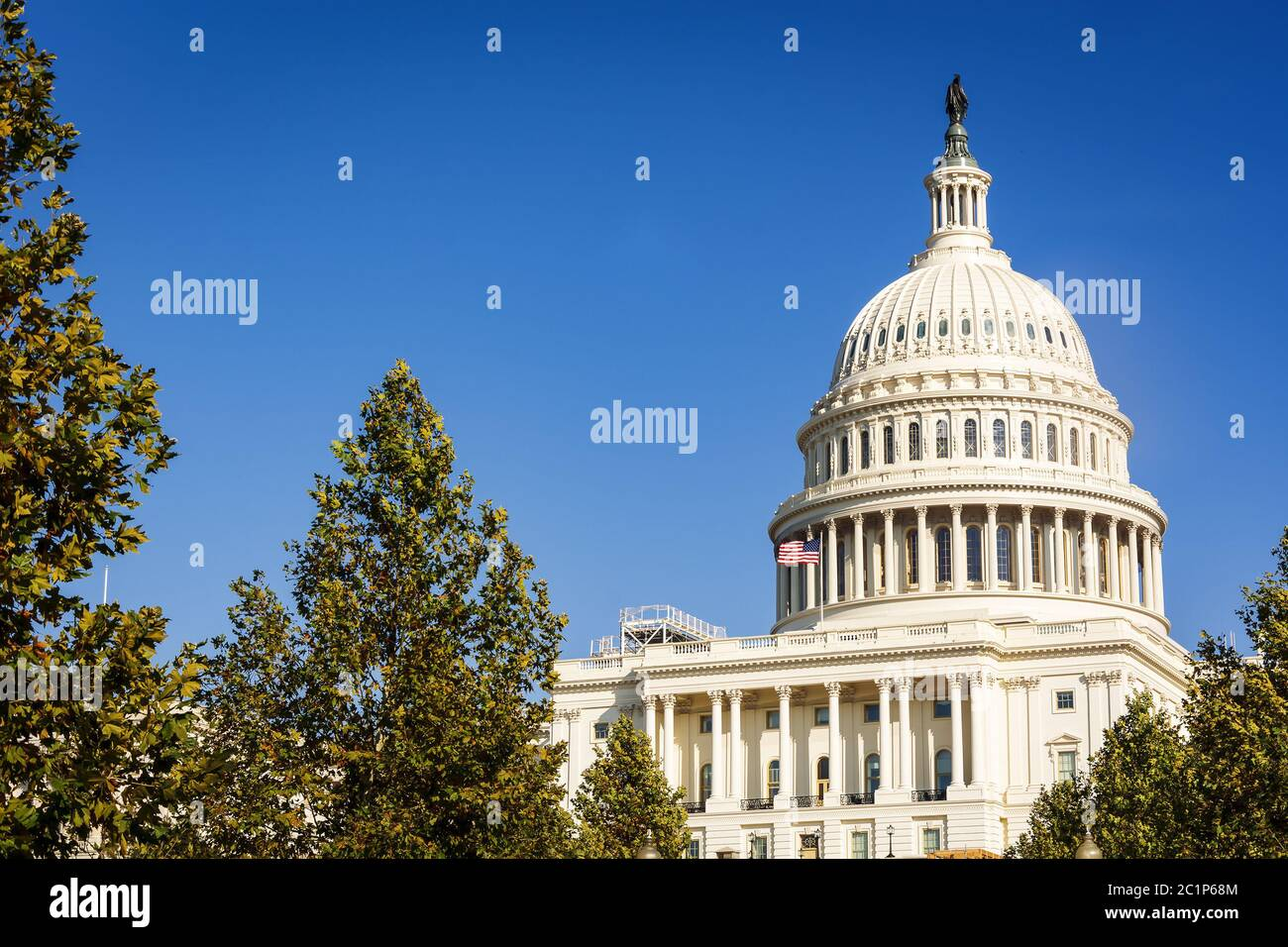 Facade of the United States Congress on Capitol Hill, Washington DC Stock Photo
