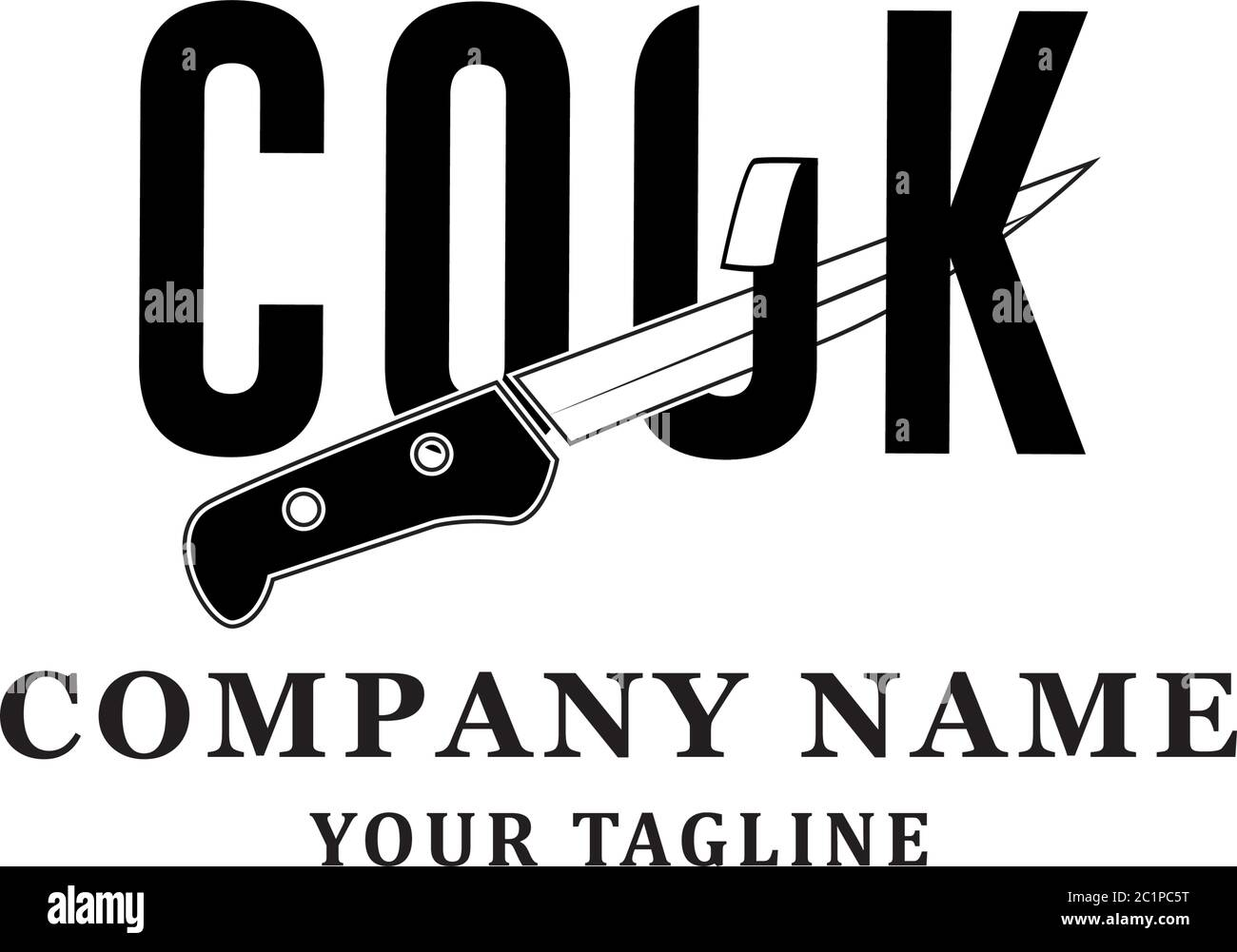 Restaurant Logo Idea Cook Sharply Logo Design Inspirations Stock Vector Image Art Alamy
