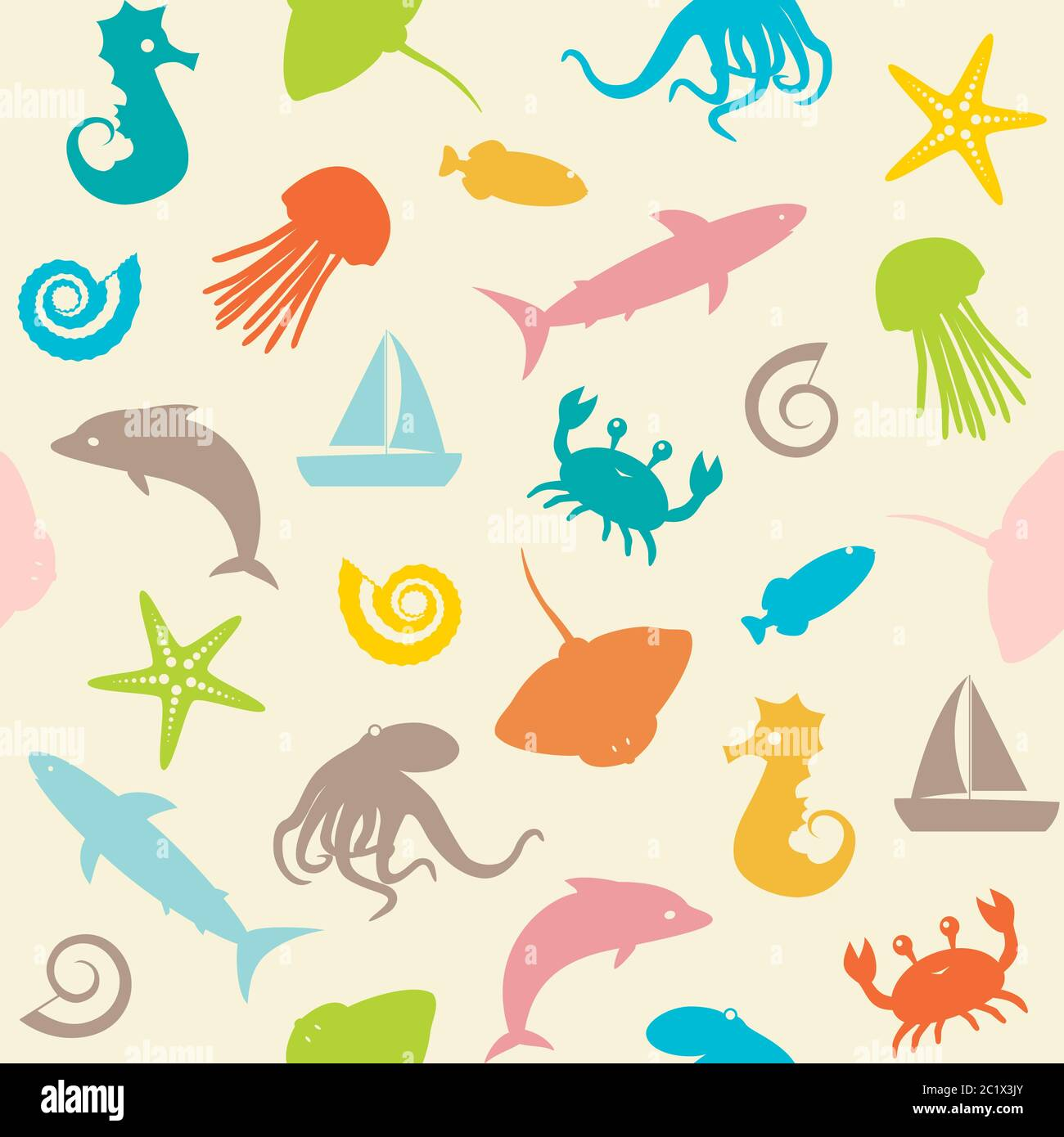 Ocean Animal Clipart - Clip Art On Sea Creature - Free Transparent PNG  Clipart Images Download