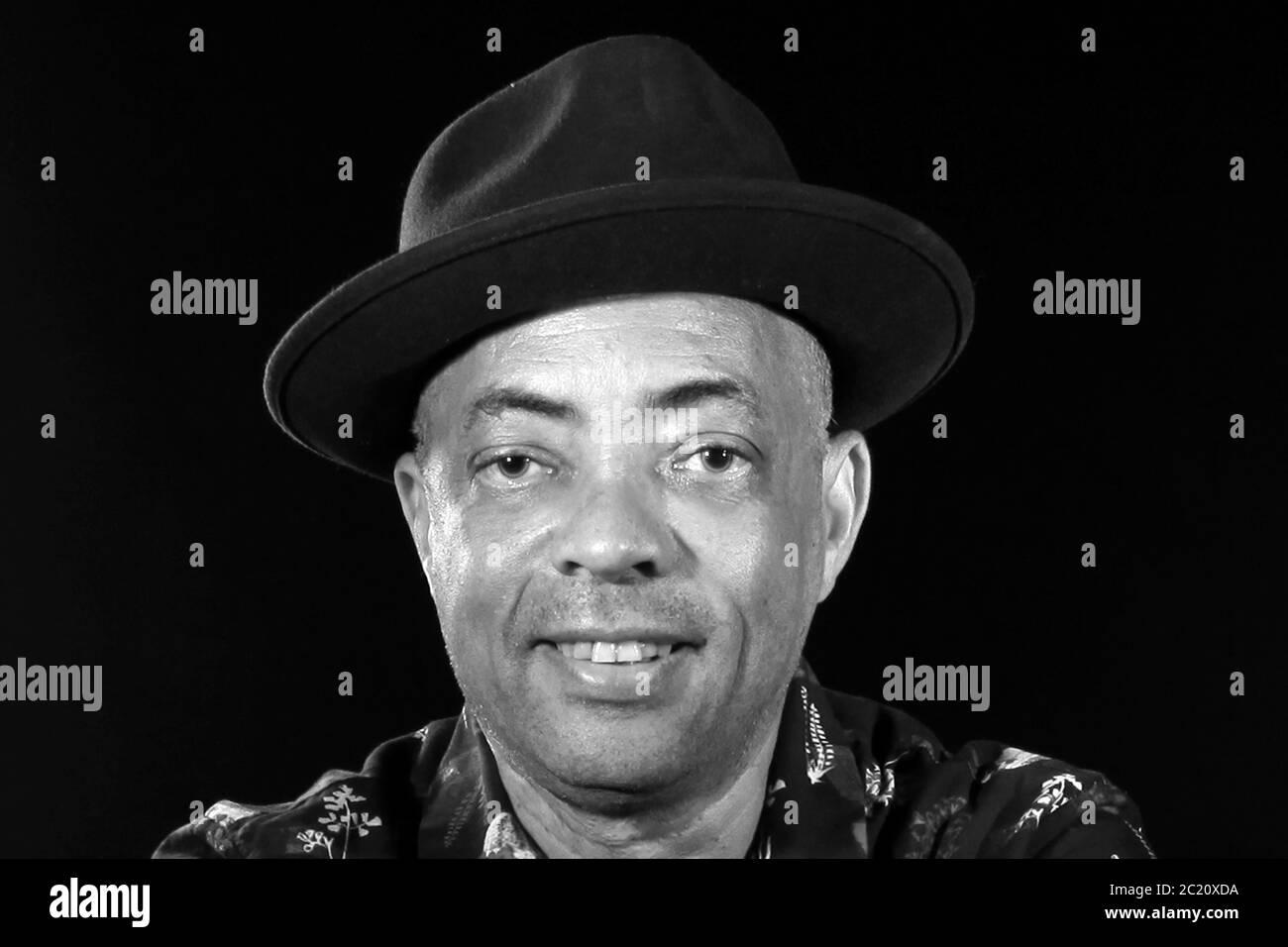 Black carrabian man Stock Photo