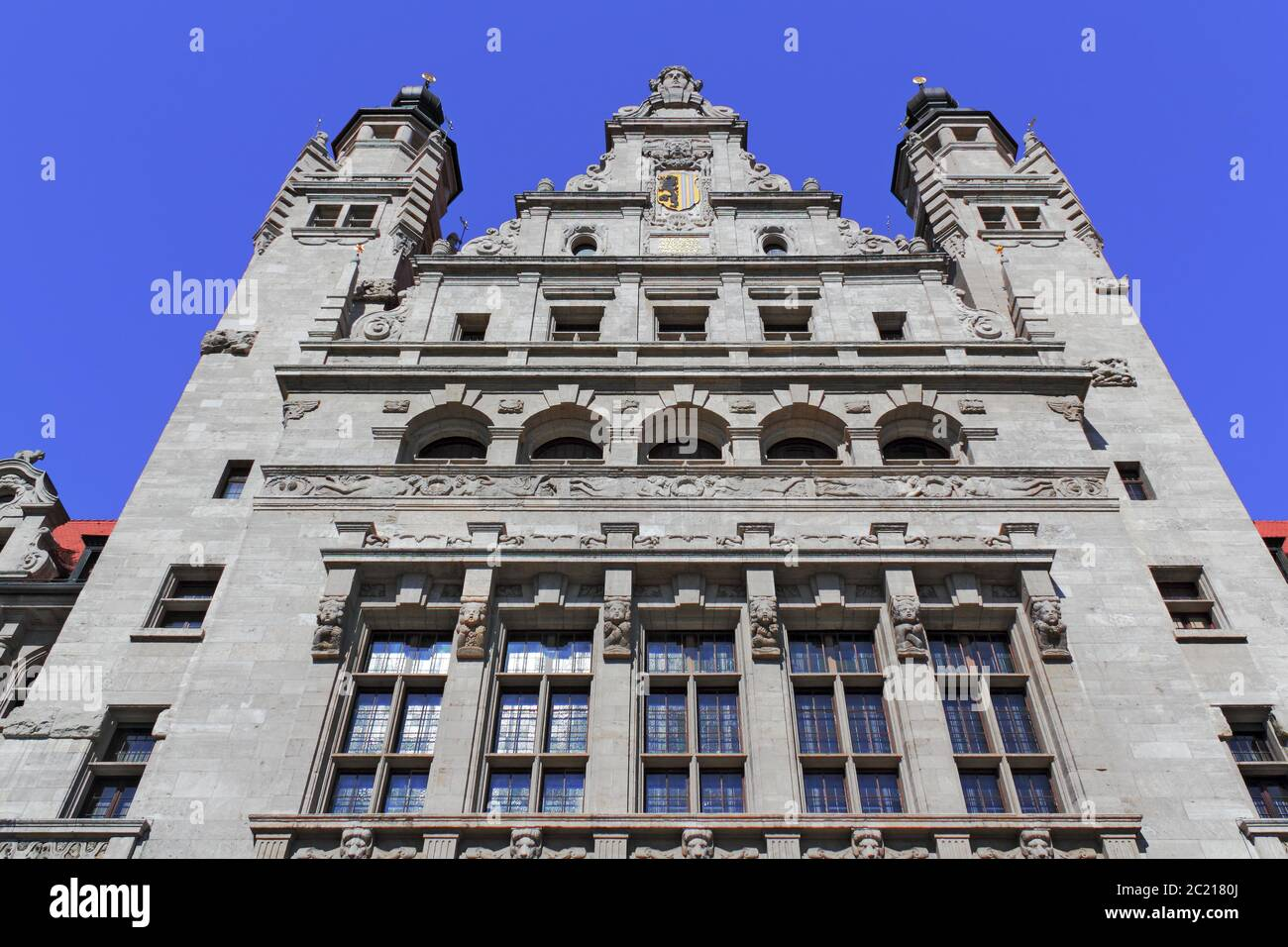 Leipzig New Town Hall Stock Photo Alamy
