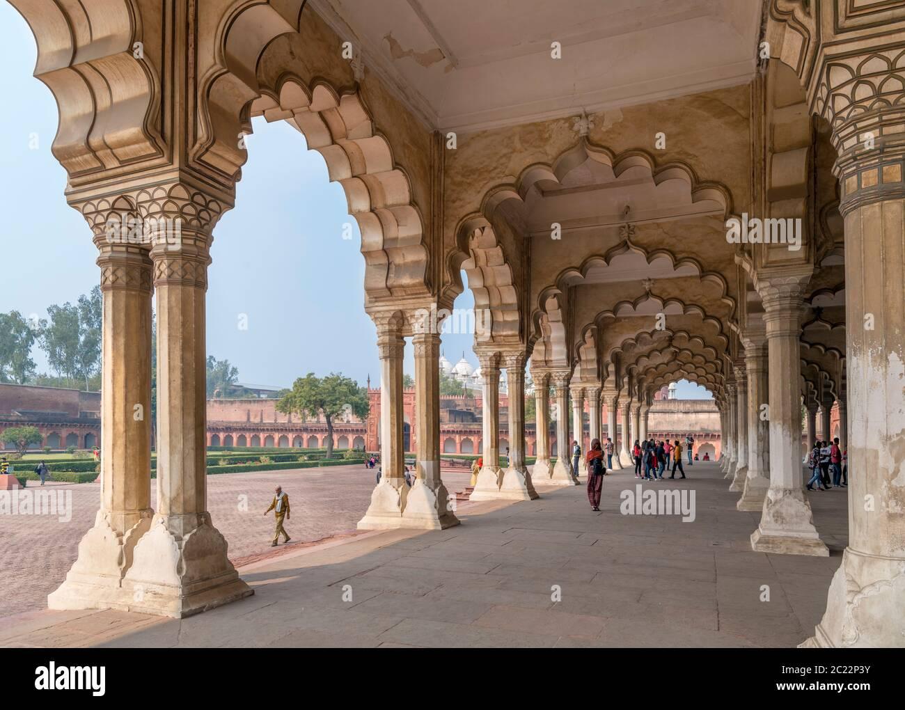 The Diwan-i-am (Hall of Public Audiences) in Agra Fort, Agra, Uttar Pradesh, India Stock Photo