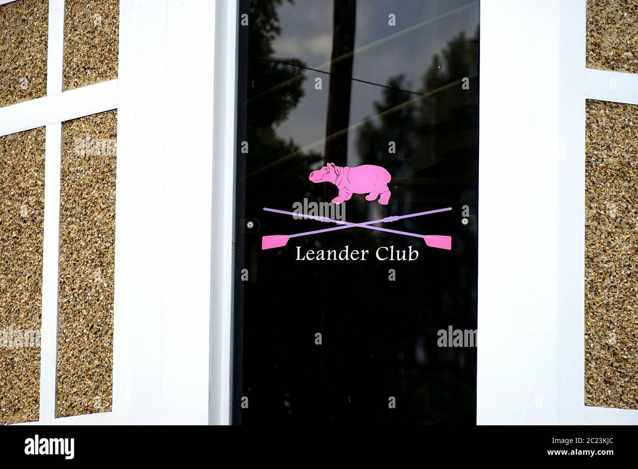 Leander Club crest on the club house Stock Photo