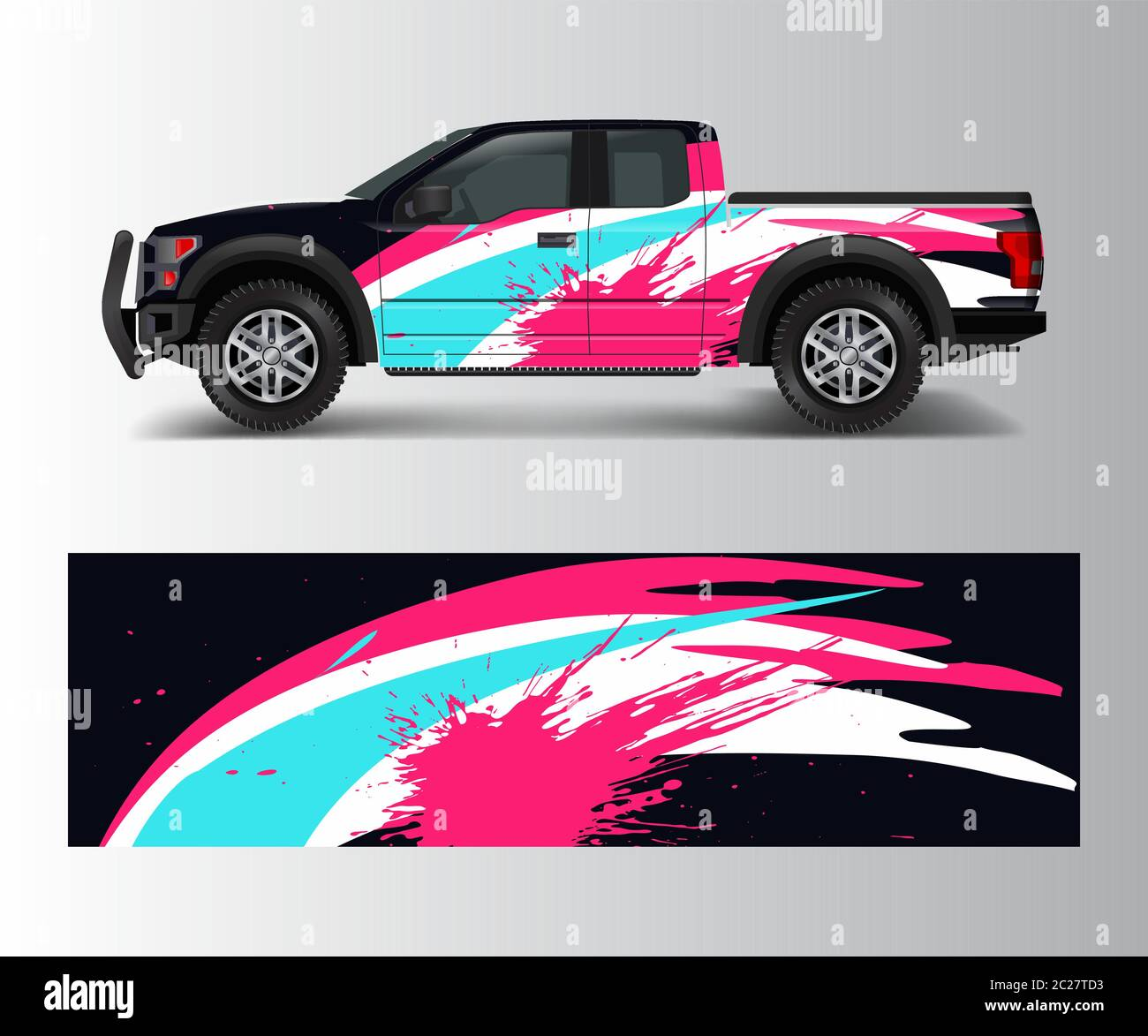 Racing Graphic Background Vector For Truck Pickup And Vehicle Branding Vinyl And Wrap Design Vector Stock Vector Image Art Alamy