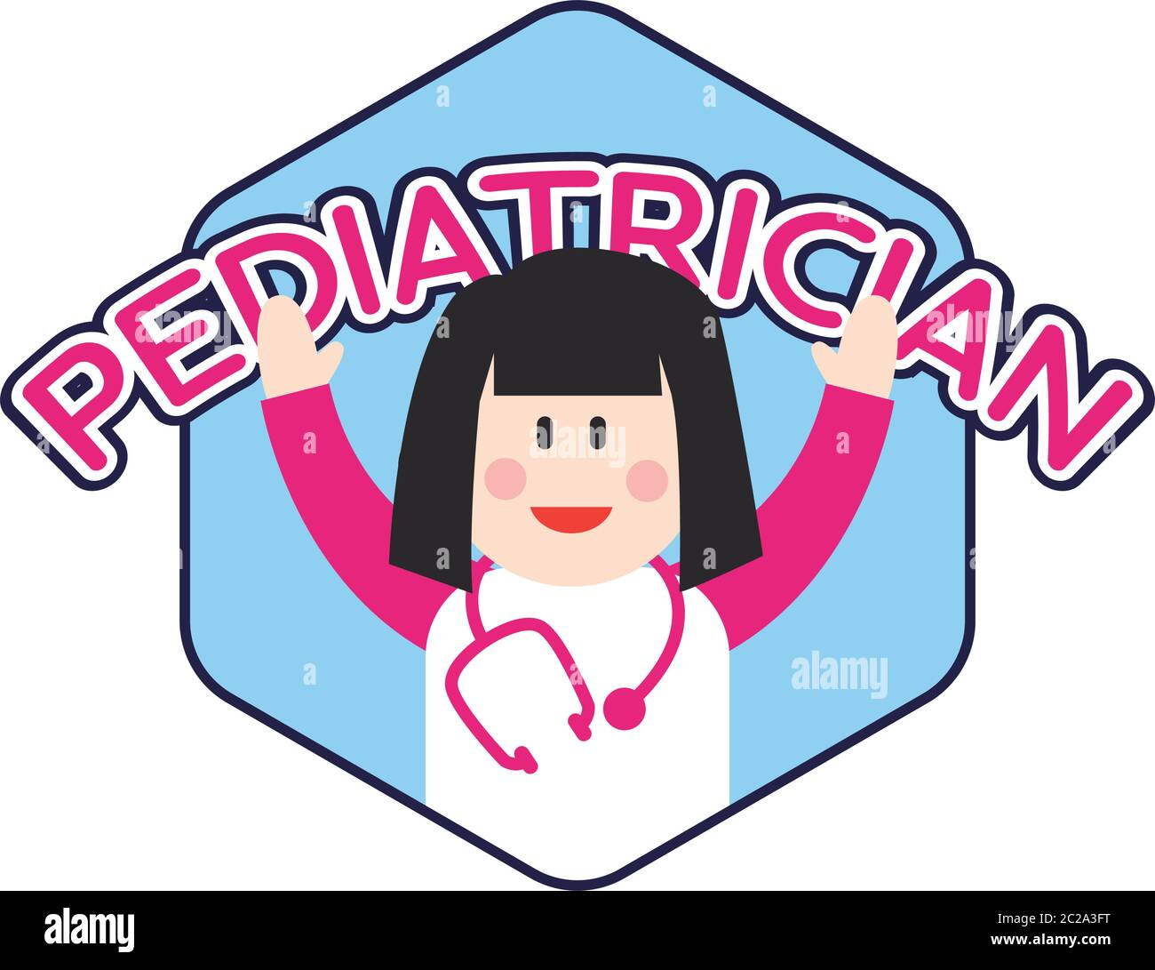 Pediatrician Logo For Doctor Or Clinic Vector Illustration Stock Vector Image Art Alamy