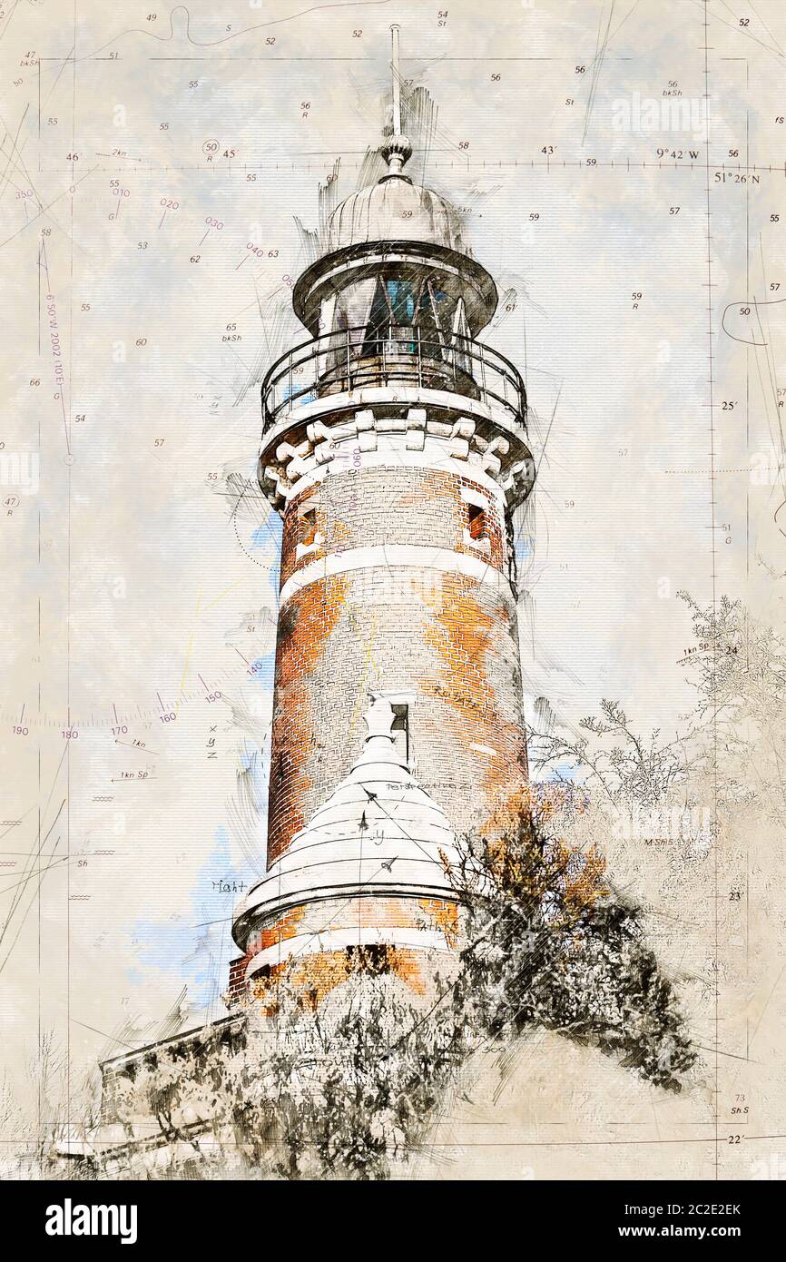 Vintage Lighthouse Painting High Resolution Stock Photography And