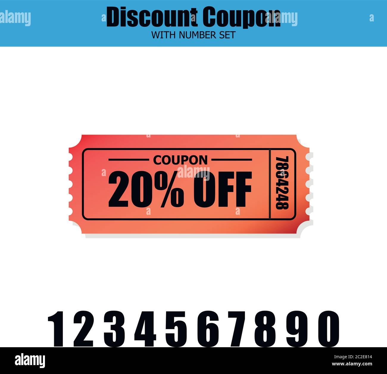Red 20 Off Discount Coupon Icon In A Set With Numbers To Adjust Your Desired Amount Useful For Your Discount Promotions Coupons And Advertisement Stock Vector Image Art Alamy