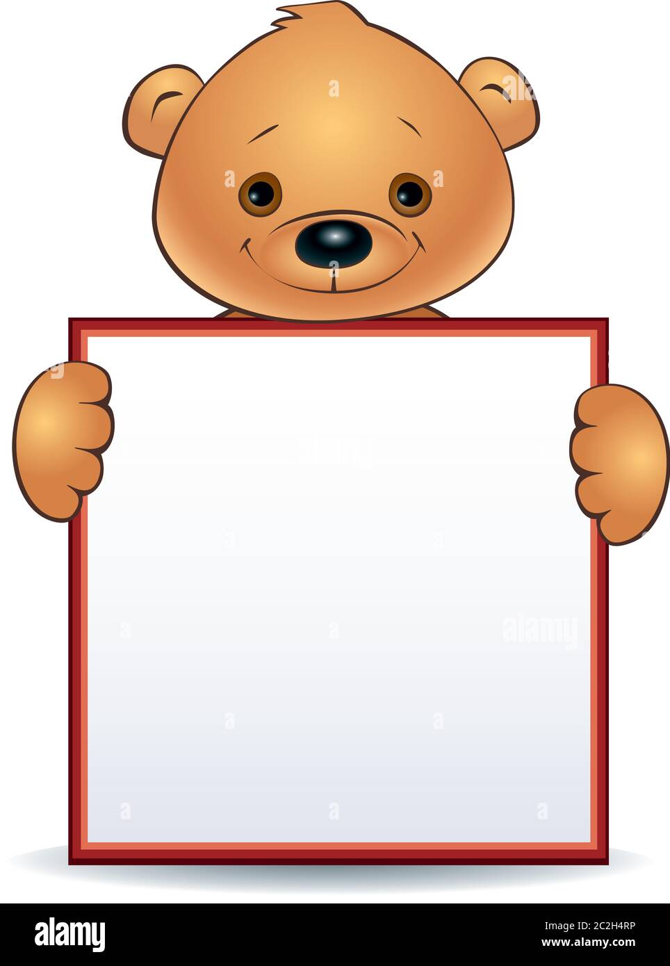 Brown Bear With A Barrel Of Honey On A White Background Stock Vector -  Illustration of sweet, vector: 136582575