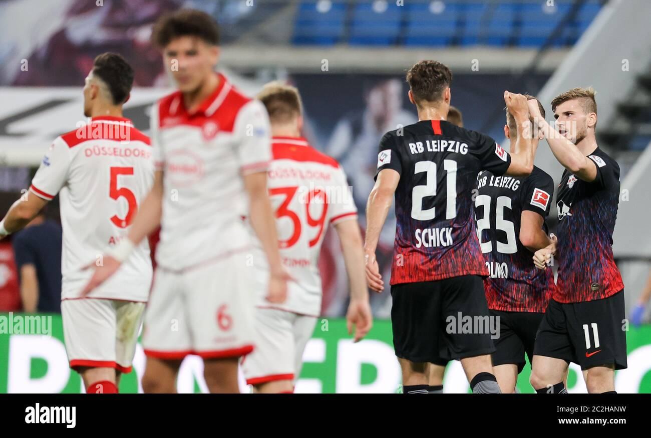 Leipzig Germany 17th June 2020 Football Bundesliga 32nd Matchday Rb Leipzig Fortuna Dusseldorf In The Red