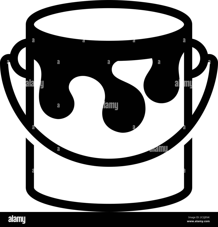 Paint Bucket Icon Vector Art Illustration Stock Vector Image Art Alamy