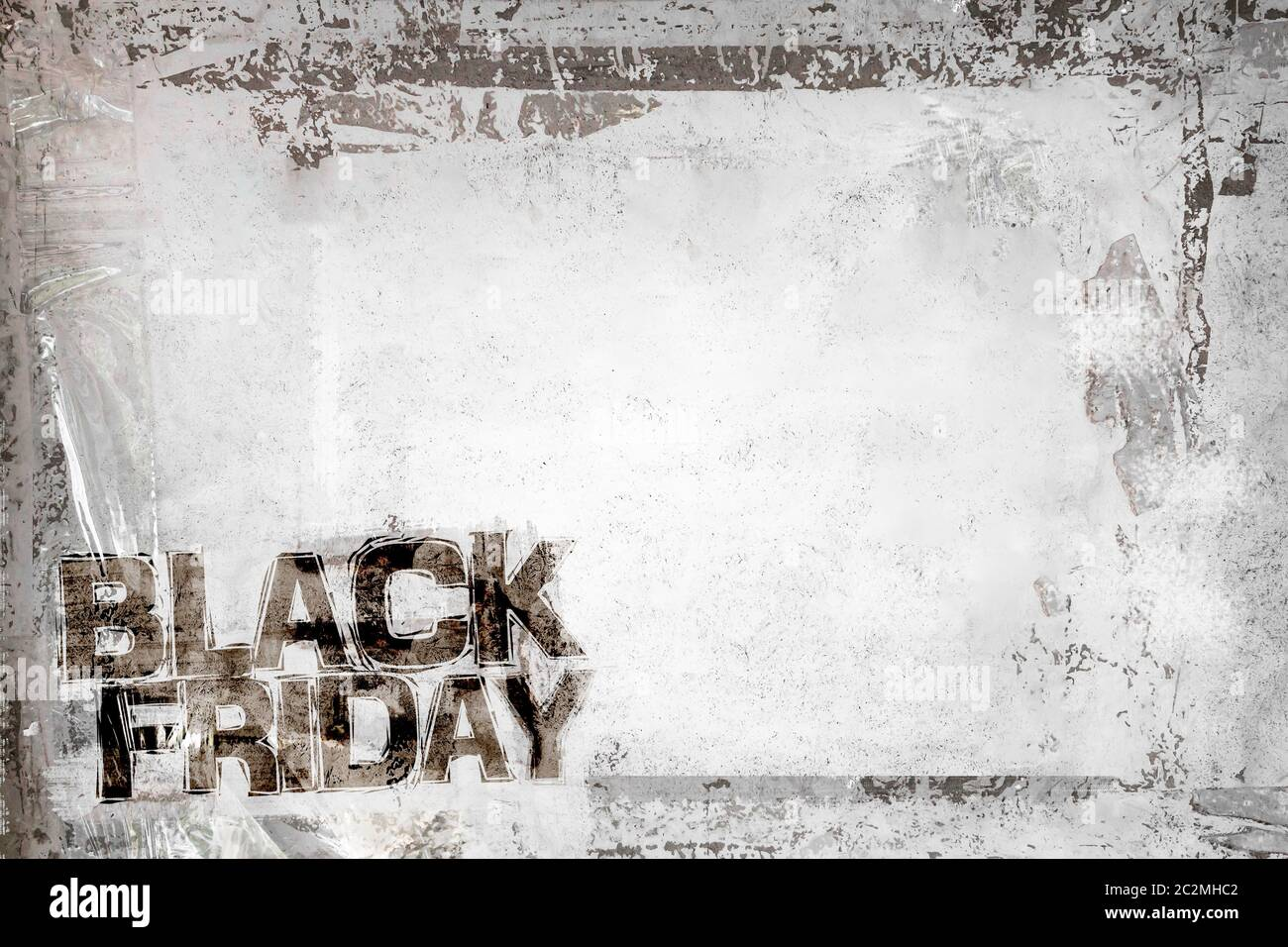 Black Friday Grunge Background With Grungy Frame And Remains Of Scotch Tape And Cellophane Fully Editable Dirty Artistic Design Element Box Frame Stock Photo Alamy