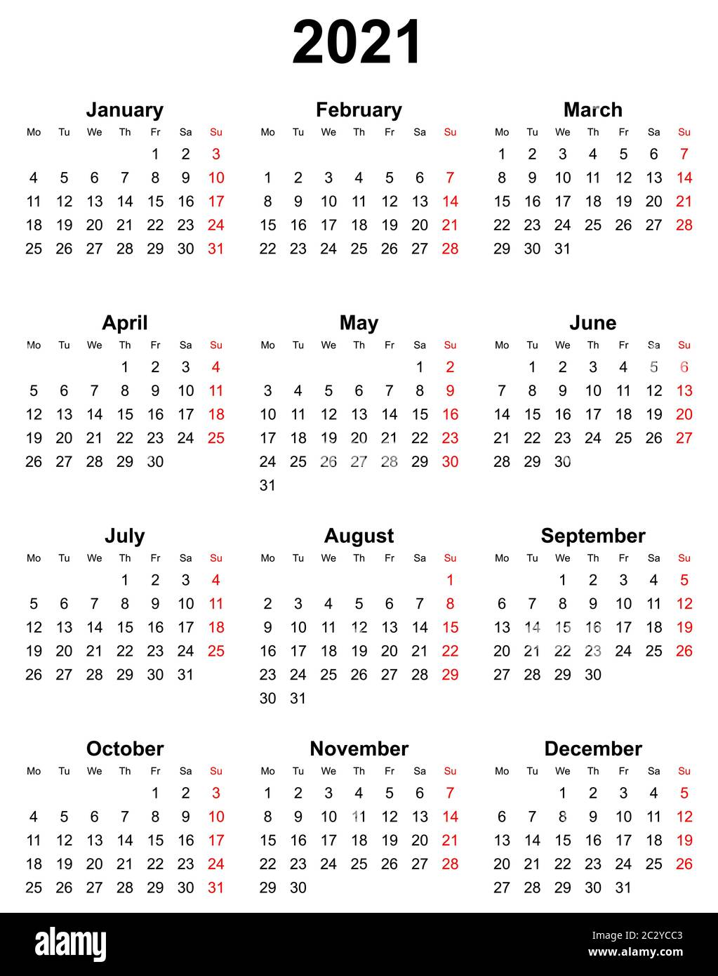 2021 Calendar Sundays Pictures