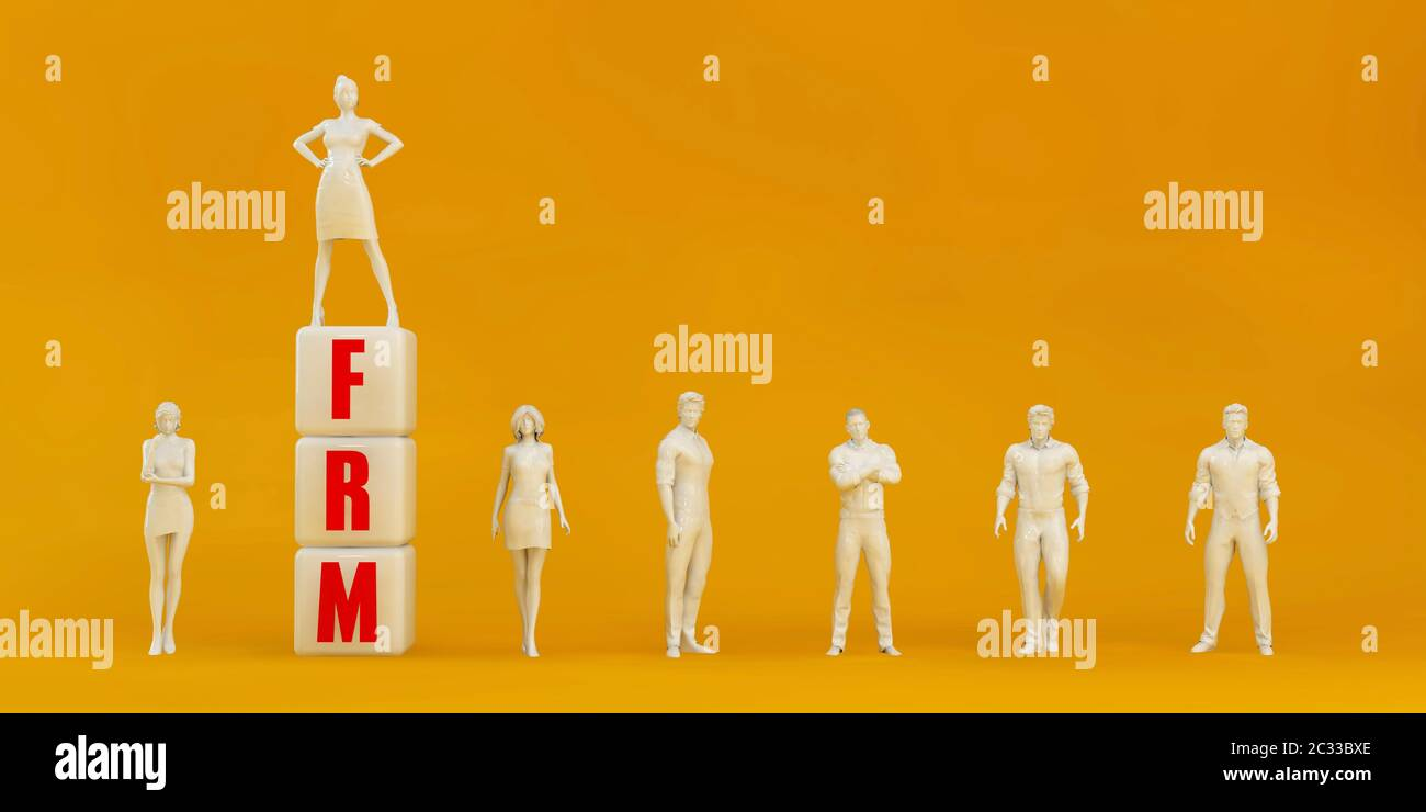 FRM Financial Risk Management Presentation Background in Orange and Red Stock Photo