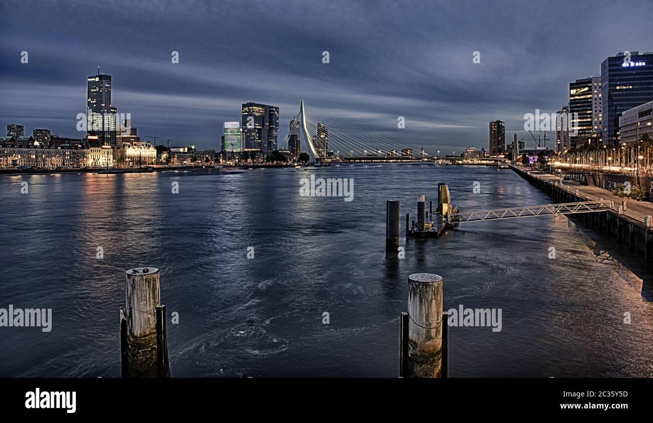 Erasmus Bridge, Rotterdam Stock Photo