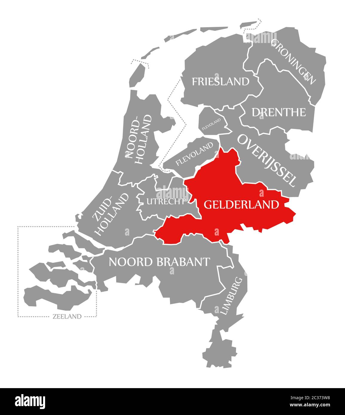 Netherlands Map Illustration High Resolution Stock Photography And Images Alamy