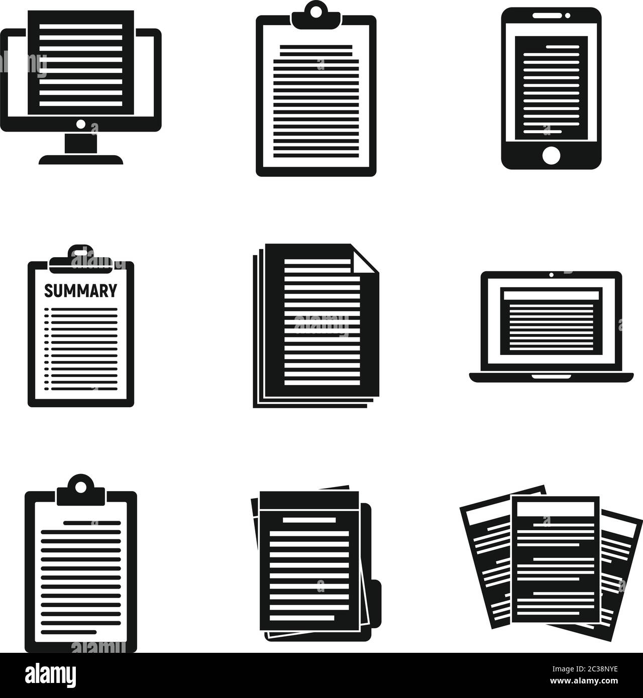 Resume Vector Icons Set High Resolution Stock Photography And