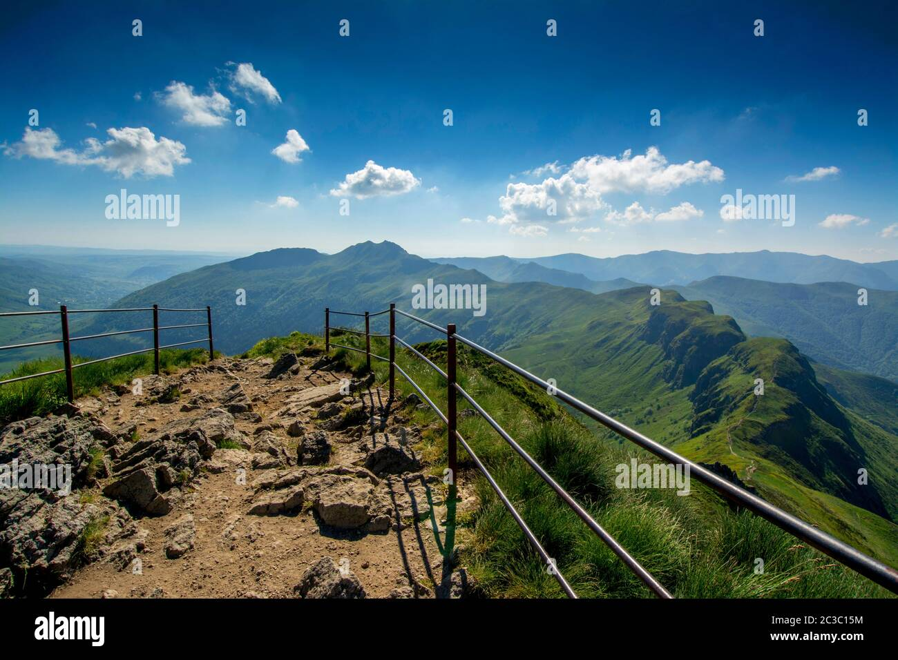 Summit of Puy Mary.Auvergne Volcanoes Regional Nature Park, Cantal, France, Europe Stock Photo