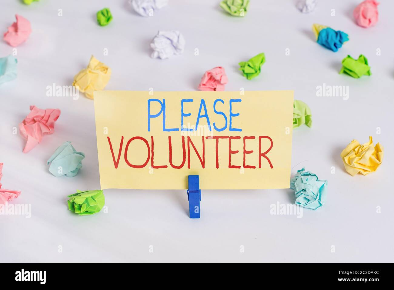 Conceptual Hand Writing Showing Please Volunteer Concept Meaning