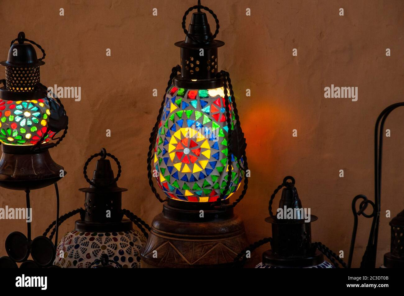 Picture of: A Decorative Night Lamp Shade Ideas Stock Photo Alamy