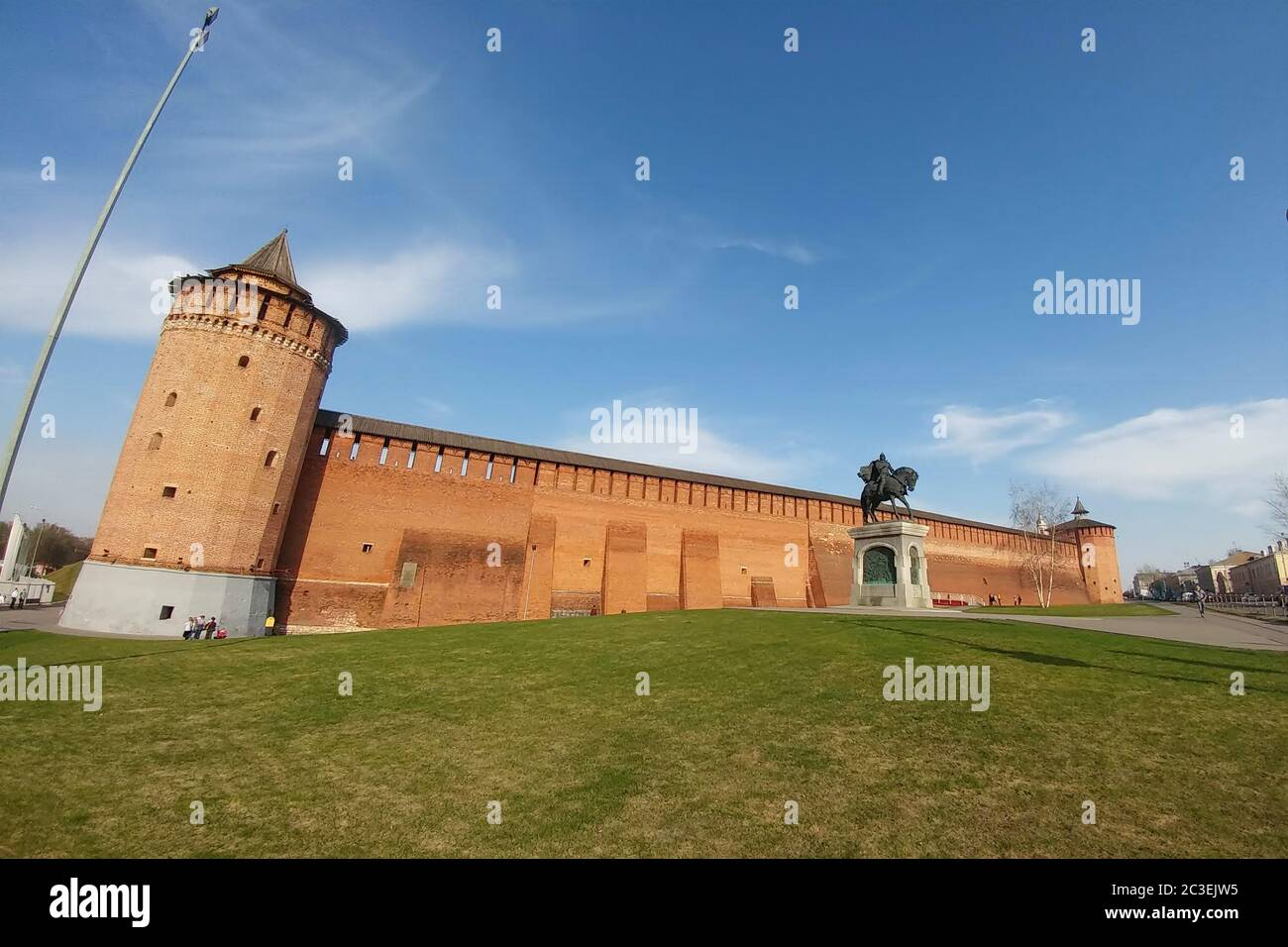 Kolomna, Russia - April 1, 2019: Kolomna kremlin - one of the largest and most powerful ancient fortresses Stock Photo