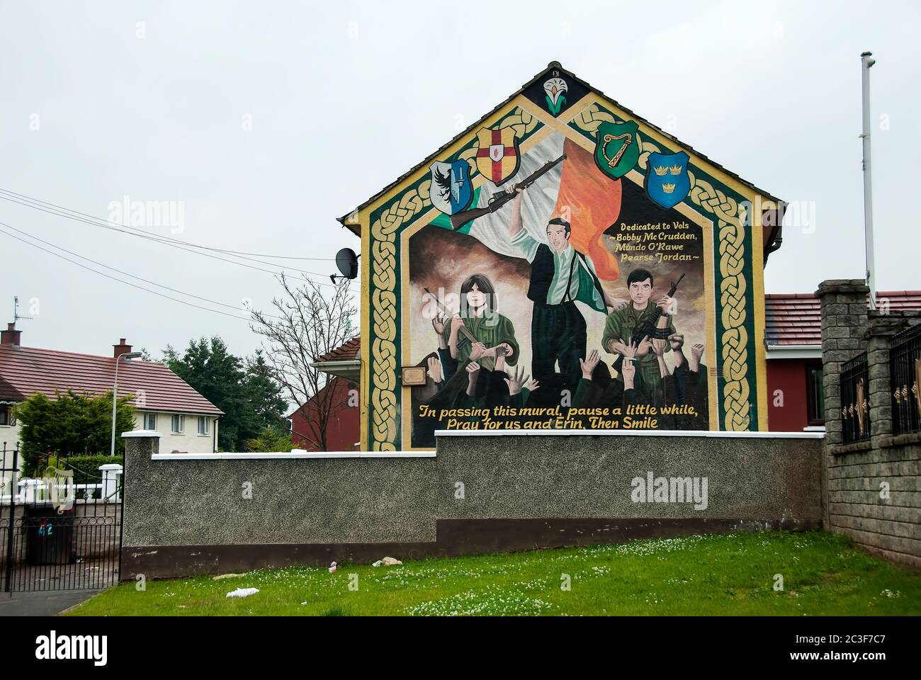 Political murals / Belfast  / 18/07/2020 Stock Photo