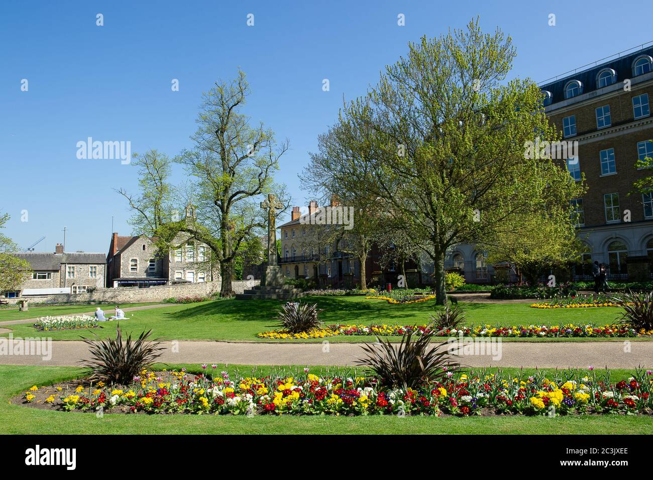 Reading, Berkshire, UK. 23rd April, 2015. Public Park Forbury Gardens in Reading Town Centre, Reading, Berkshire next to Reading Crown Court. Credit: Maureen McLean/Alamy Stock Photo