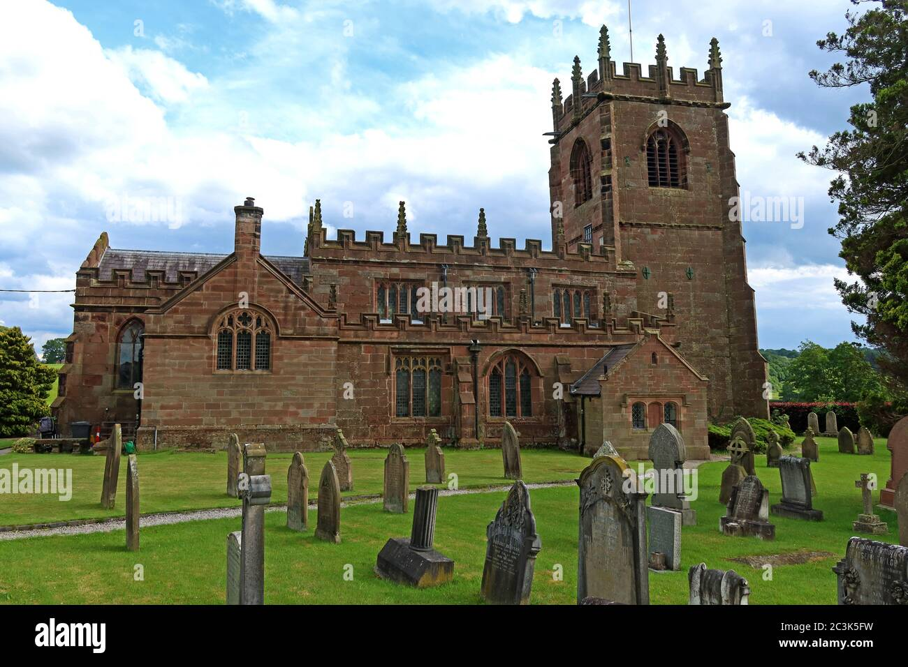 St Michael and All Angels Church, 23 Wirswall Rd, Marbury, Whitchurch, Cheshire, England, UK,  SY13 4LL Stock Photo