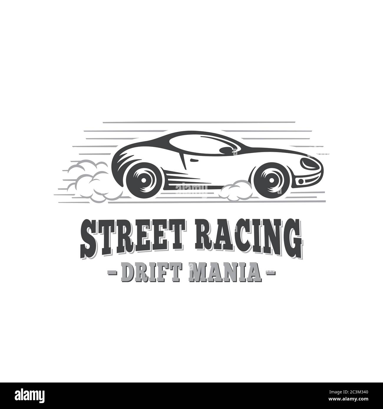 Sport Car Street Racing Design Template Drift Mania Vector And Illustrations Stock Vector Image Art Alamy