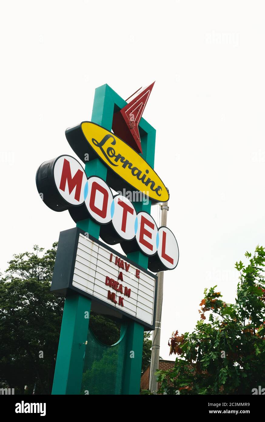Memphis, Tennessee, United States - July 20 2009: Lorraine Motel Memorial Sign, the Place of the Assasination of Dr. Martin Luther King and Civil Righ Stock Photo