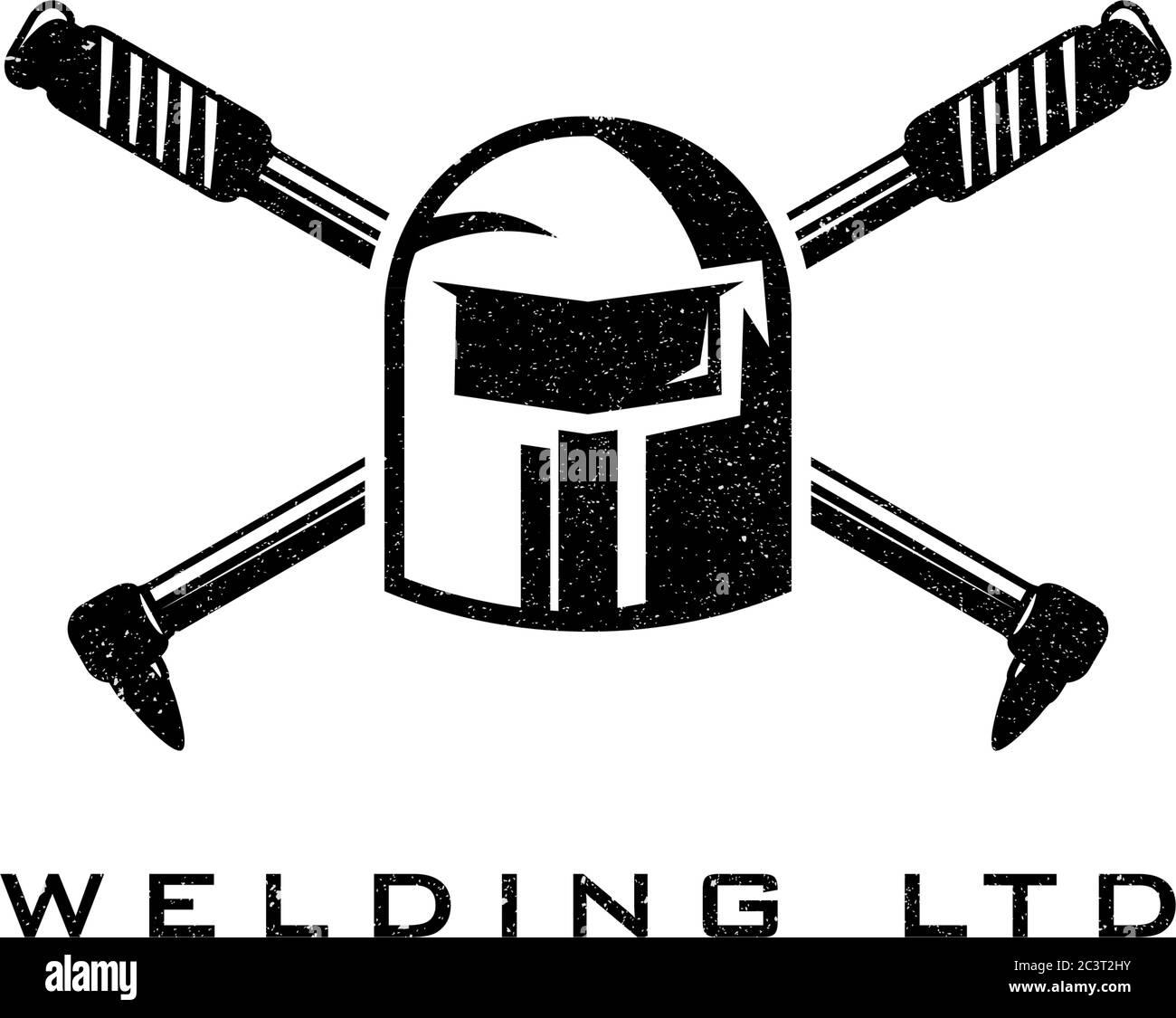 Welding Torch Logo Design Welder Tool Vector Design Welding Work Logotype Stock Vector Image Art Alamy