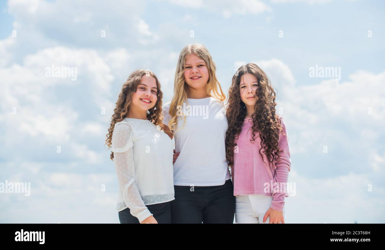 Three Little Girls Best Friends High Resolution Stock Photography And Images Alamy