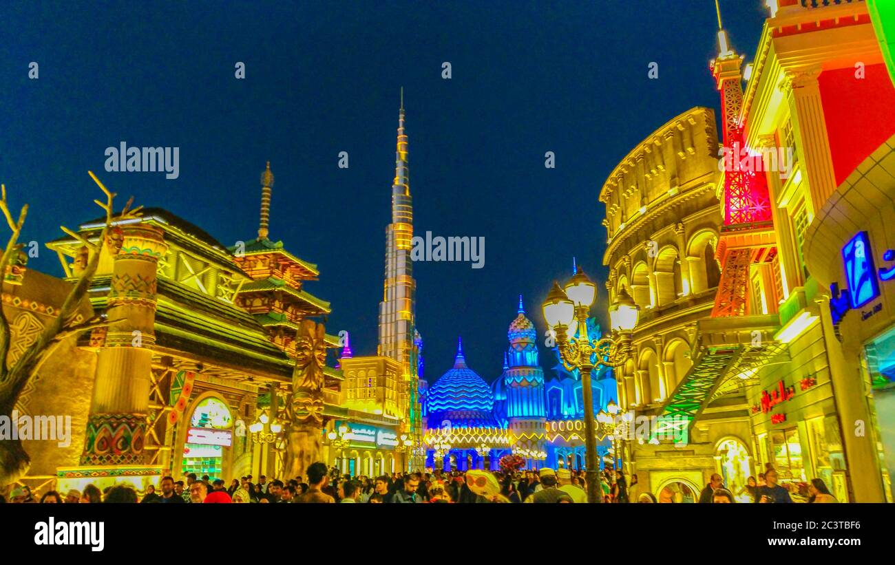 Dubai, United Arab Emirates - Junuary 24, 2020 : Global Village Stock Photo