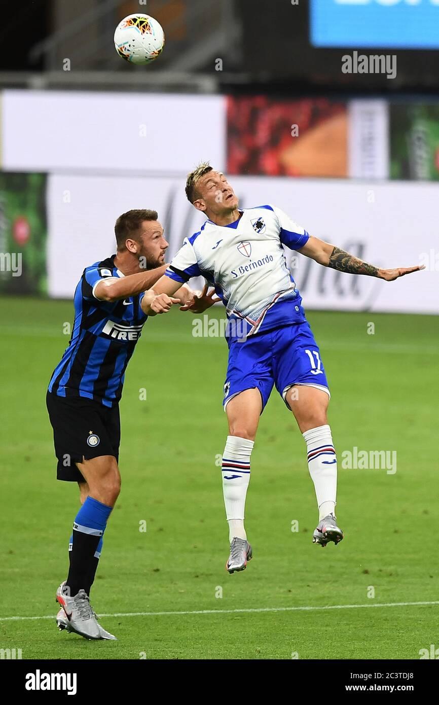 Antonino La Gumina Sampdoria Milan Skriniar Inter During The Italian Serie A Match Between Inter 2
