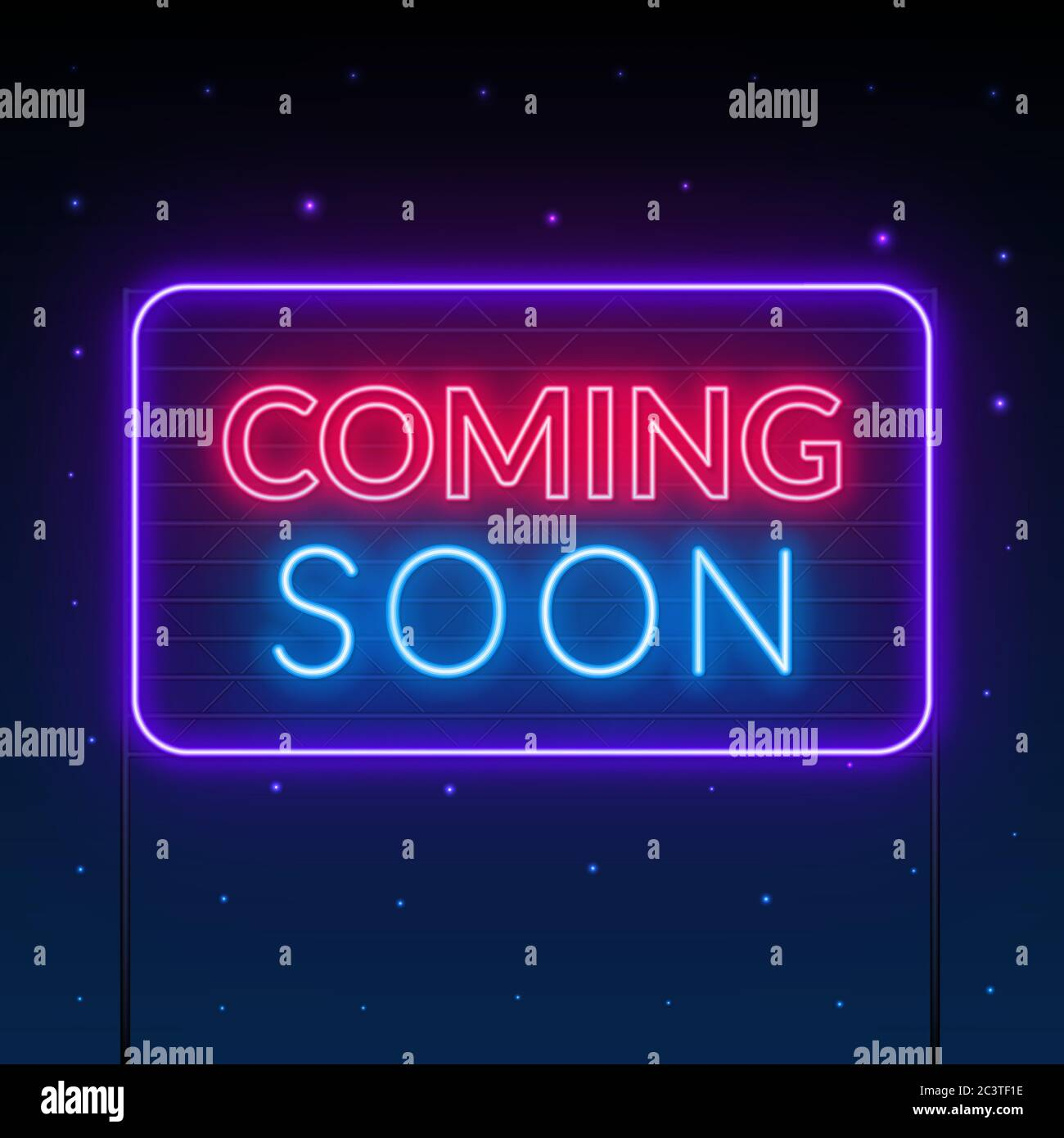 Coming Soon Neon Sign On Dark Background Stock Vector Image Art Alamy