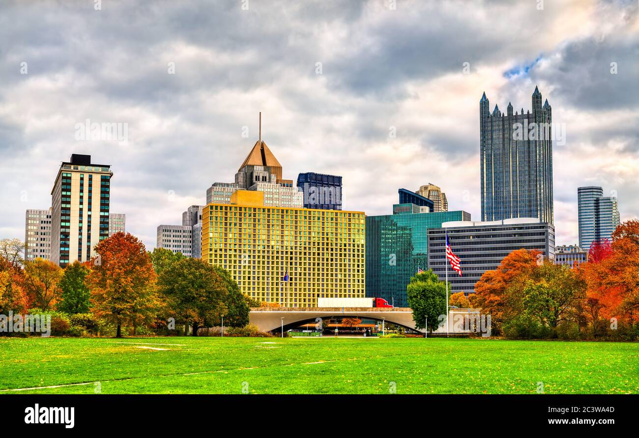 Skyscrapers in Downtown Pittsburgh. Pennsylvania, USA Stock Photo